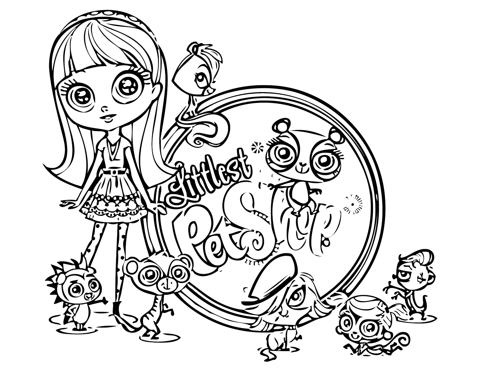 littlest pet shop coloring pages to