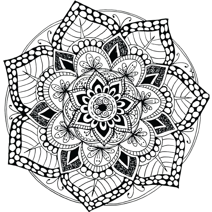 mandala coloring pages colored