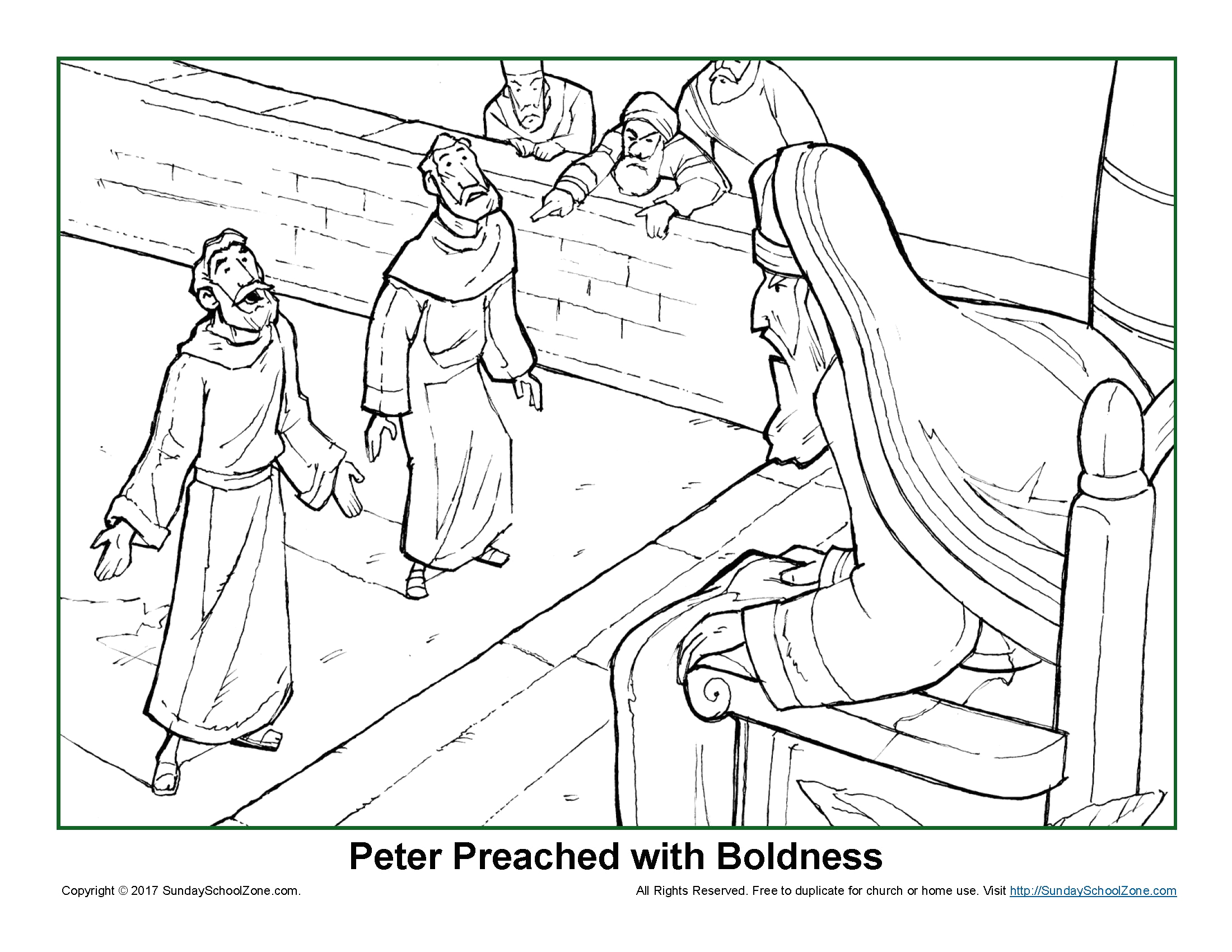 Peter and John before the Sanhedrin Coloring Pages Pin On Bibliai Kifestő
