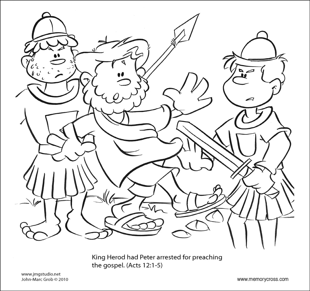 Peter and John In Prison Coloring Page Prison Coloring Pages at Getcolorings