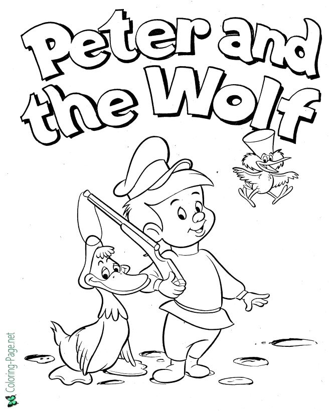 Peter and the Wolf Coloring Pages Free Peter and the Wolf Coloring Pages Fairy Tale