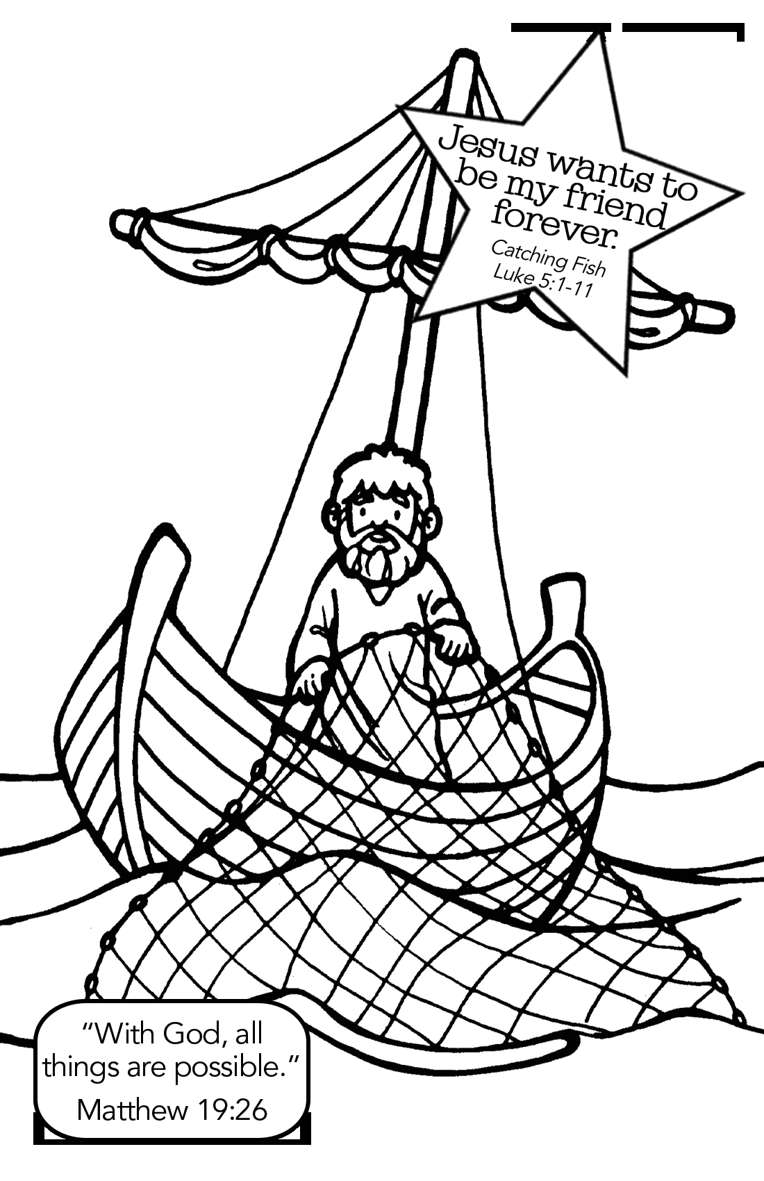 Peter James and John In A Sailboat Coloring Page Pin On Early Childhood Ministry