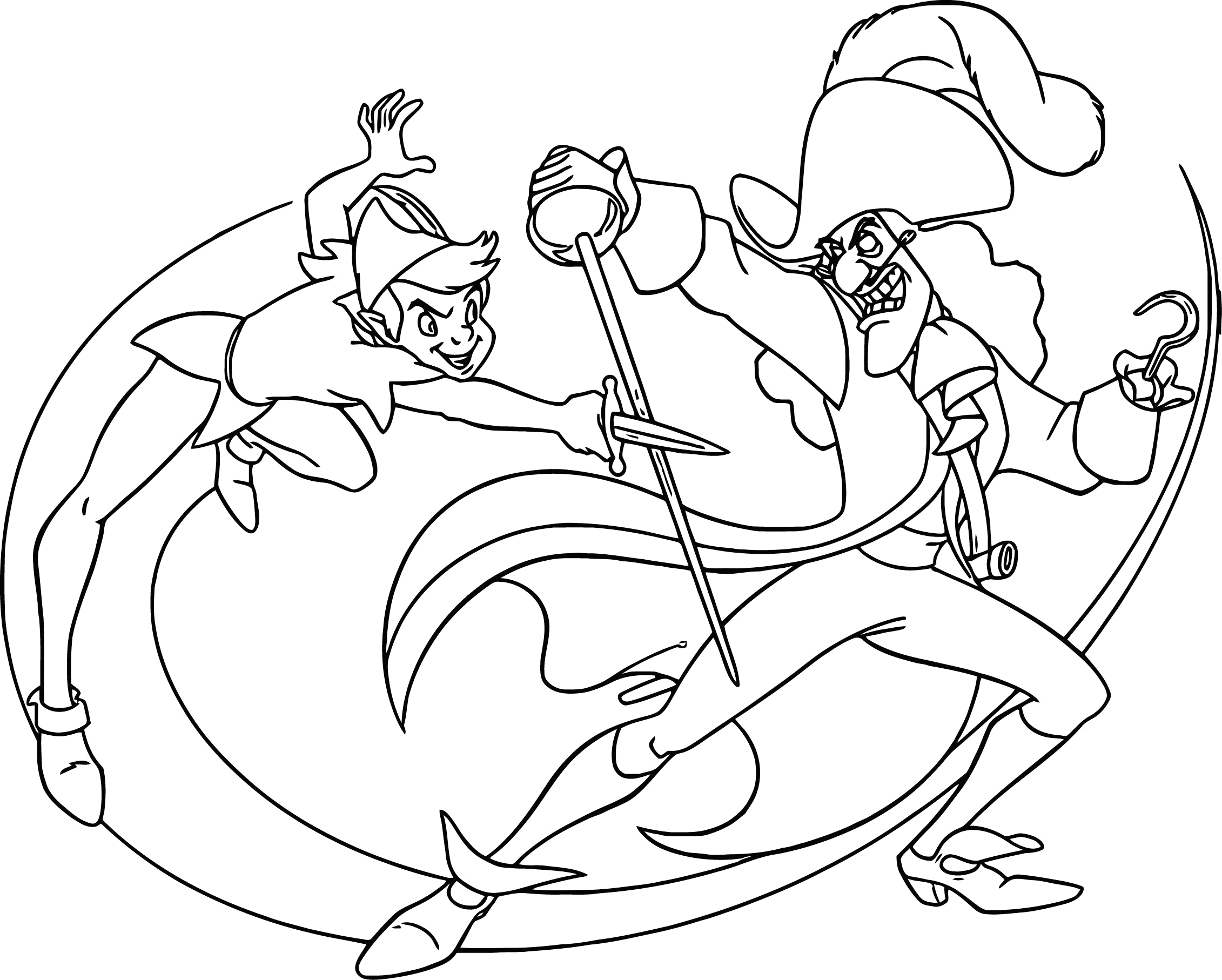 Peter Pan and Captain Hook Coloring Pages Nice Peter Pan and Captain Hook Coloring Pages