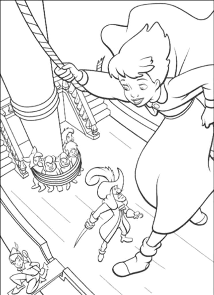 Peter Pan Return to Neverland Coloring Pages Disney S Peter Pan Return to Never Land Blu Ray