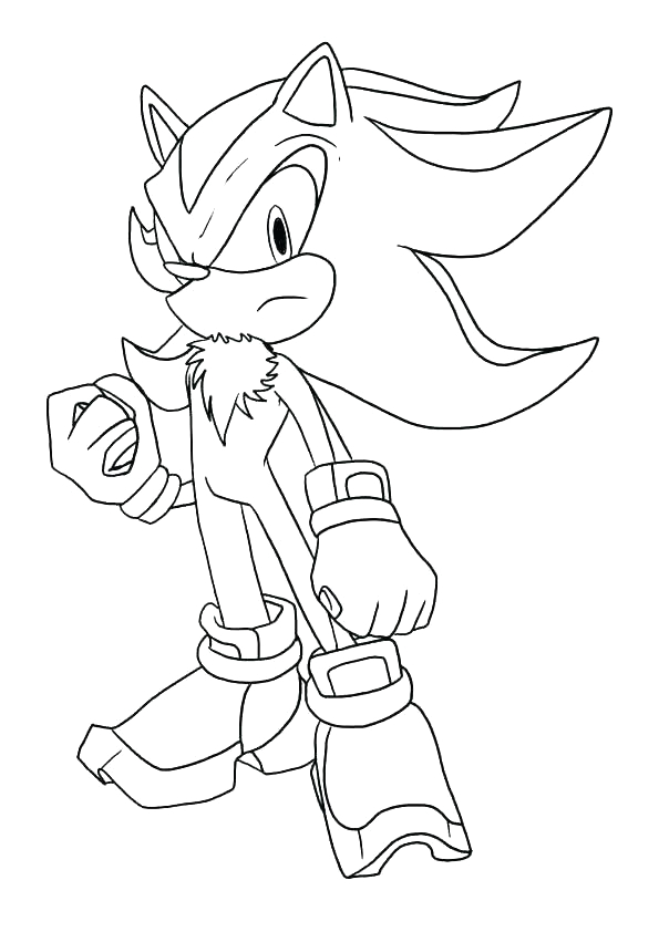 sonic and shadow coloring pages