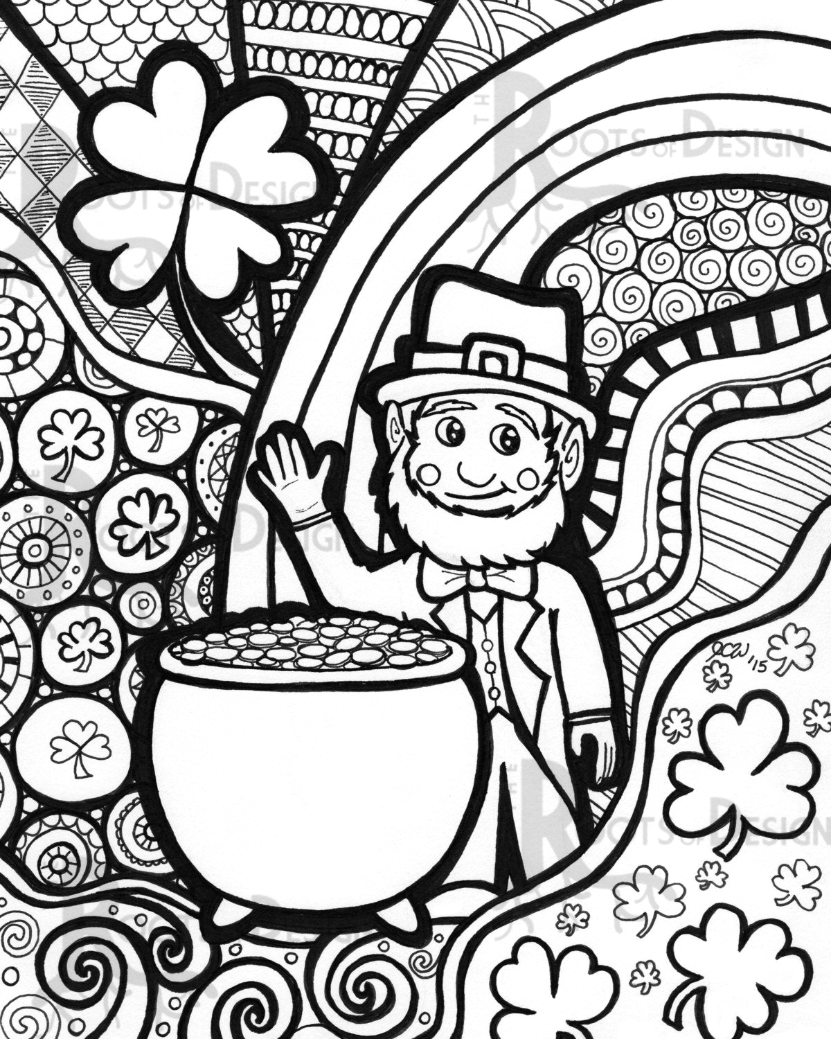 instant coloring page st