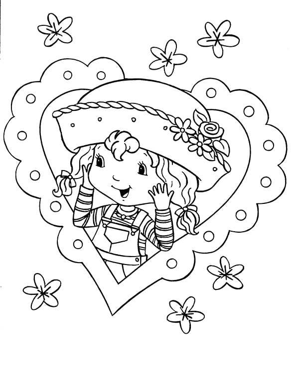 strawberry shortcake love to help her friend coloring page