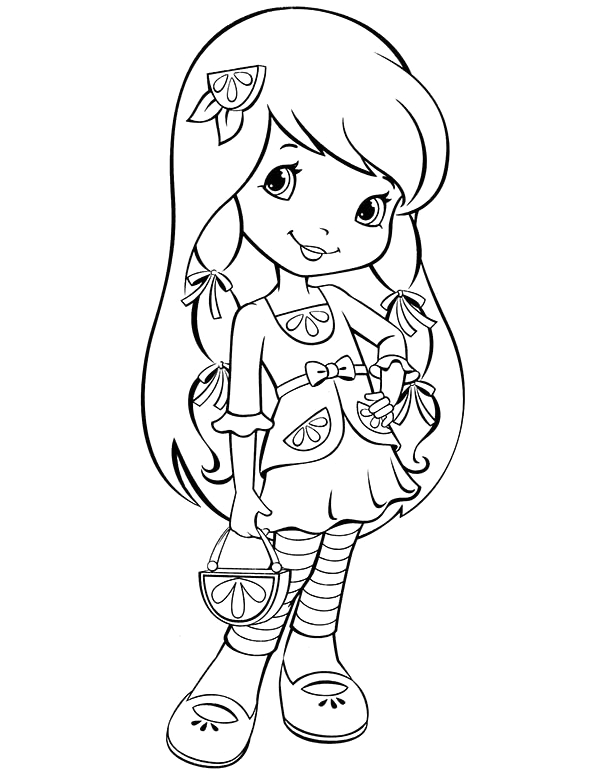 strawberry shortcake new friends from big apple city coloring page