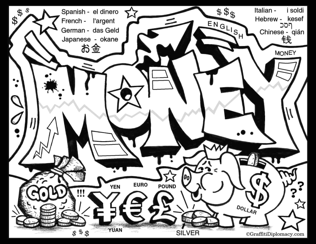 free graffiti coloring pages