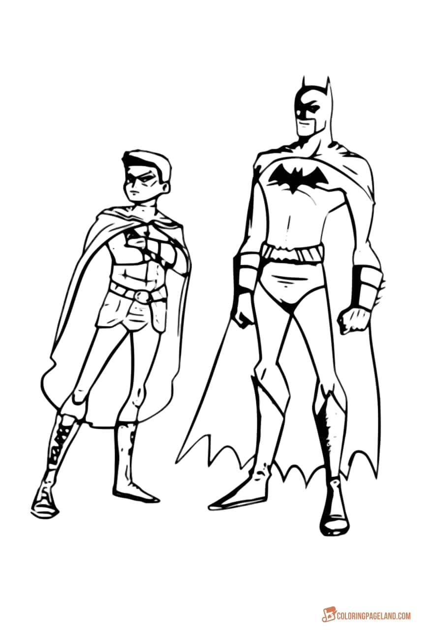 Batman and Robin Coloring Pages to Print top 10 Batman Printable Coloring Pages for Kids and Adults