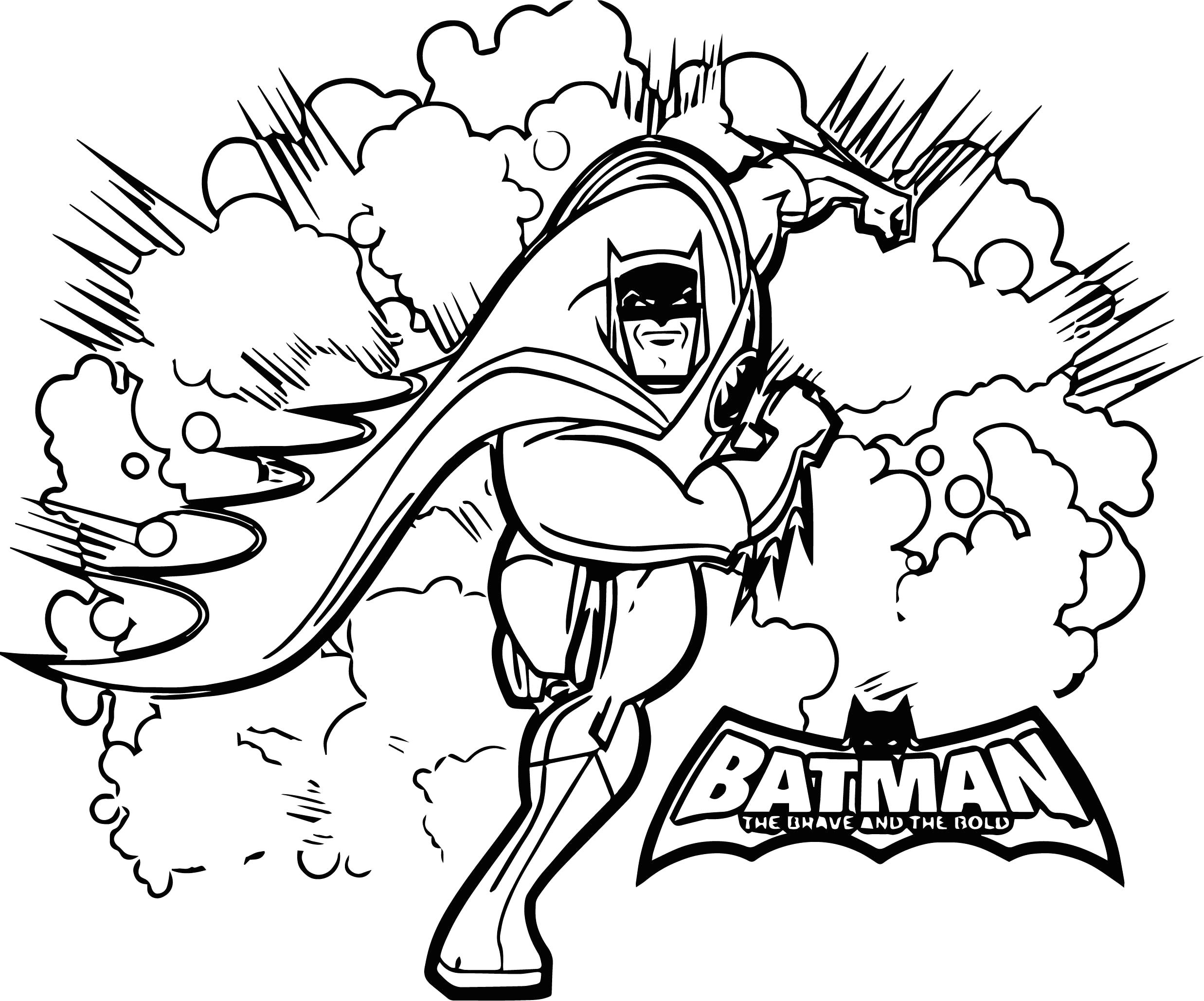 brave bold coloring page