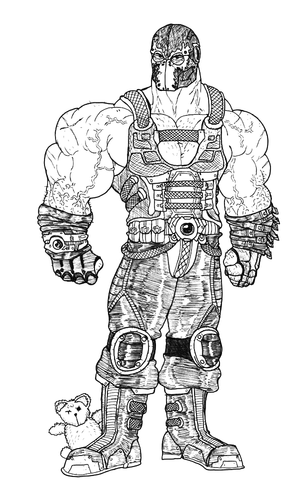 the dark knight rises bane batman coloring pages 2
