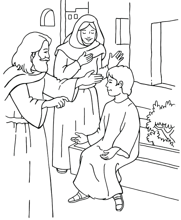 elijah and the widow coloring pages