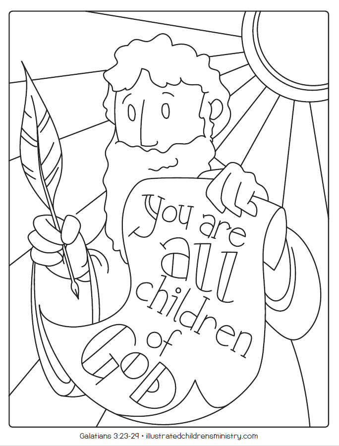 bible story coloring pages summer 2019