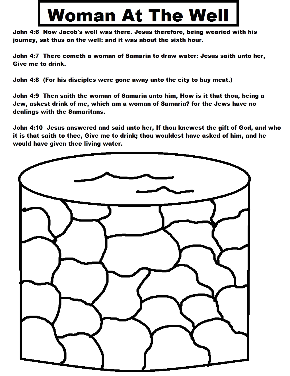woman at the well sunday school lesson