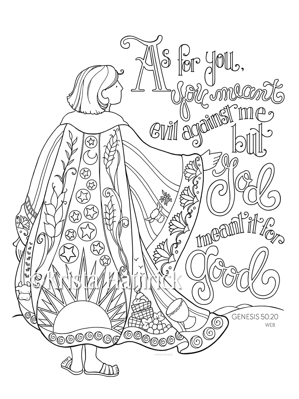 Coloring Pages Joseph and the Coat Of Many Colors Joseph S Coat Of Many Colors Coloring Page 8 5×11 Bible