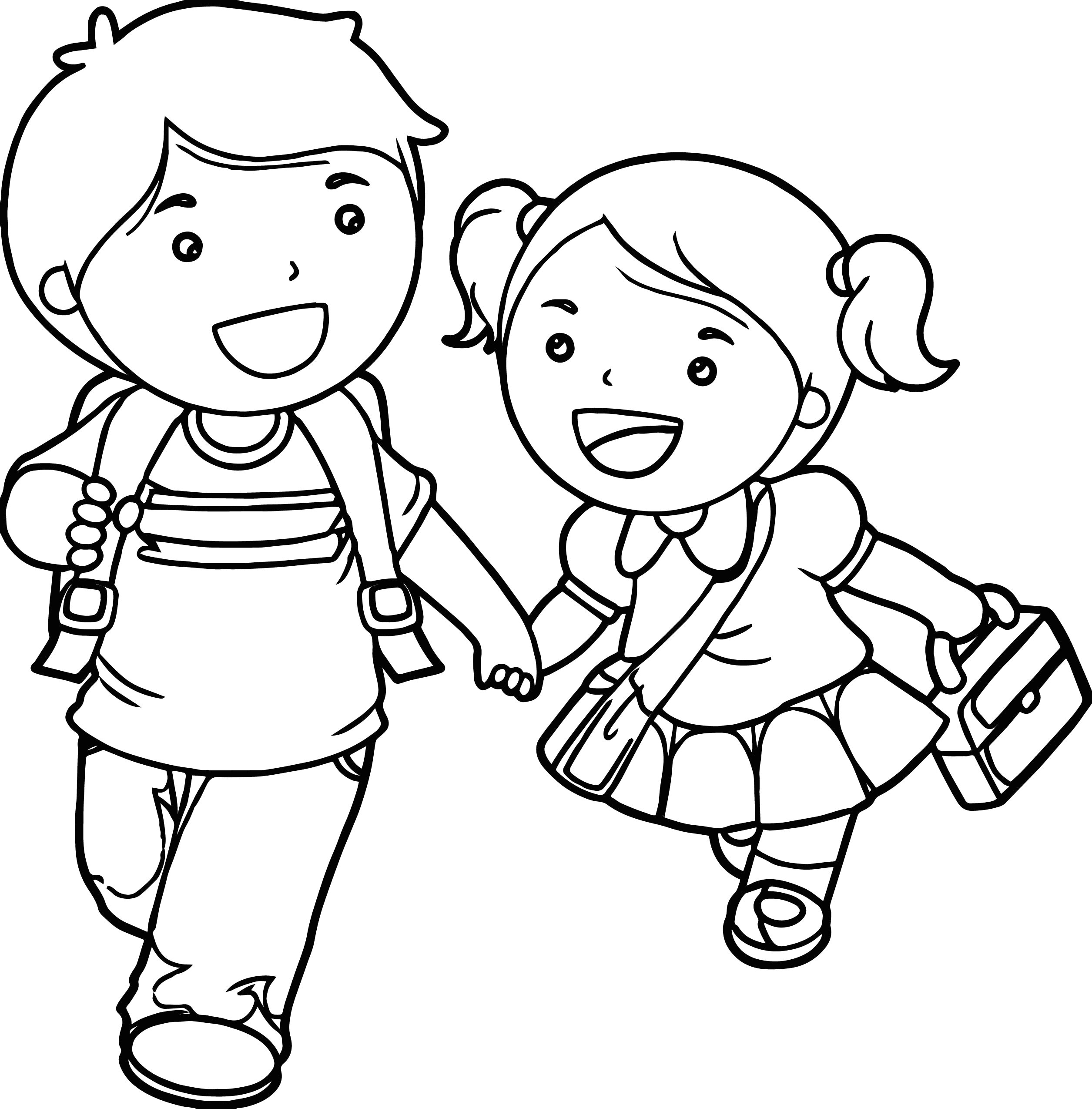 Coloring Pages Of A Boy and Girl Little Boy and Girl Coloring Pages at Getcolorings