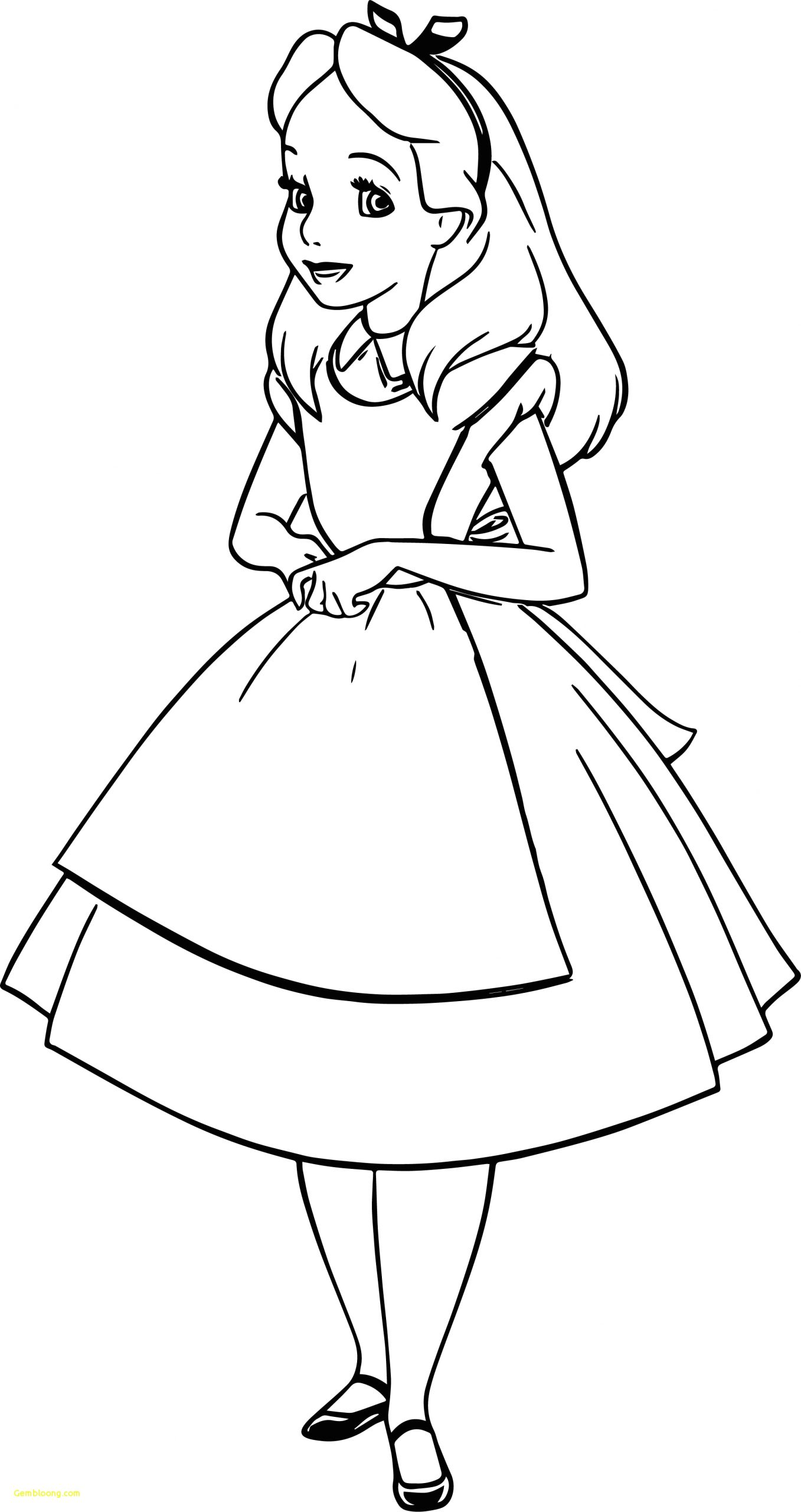 coloring pages of alice in wonderland characters
