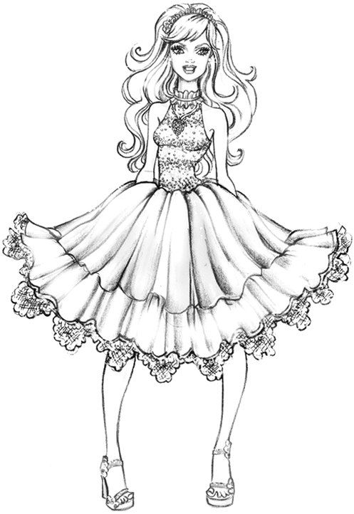 Coloring Pages Of Barbie A Fashion Fairytale Coloring Page Barbie A Fashion Fairytale