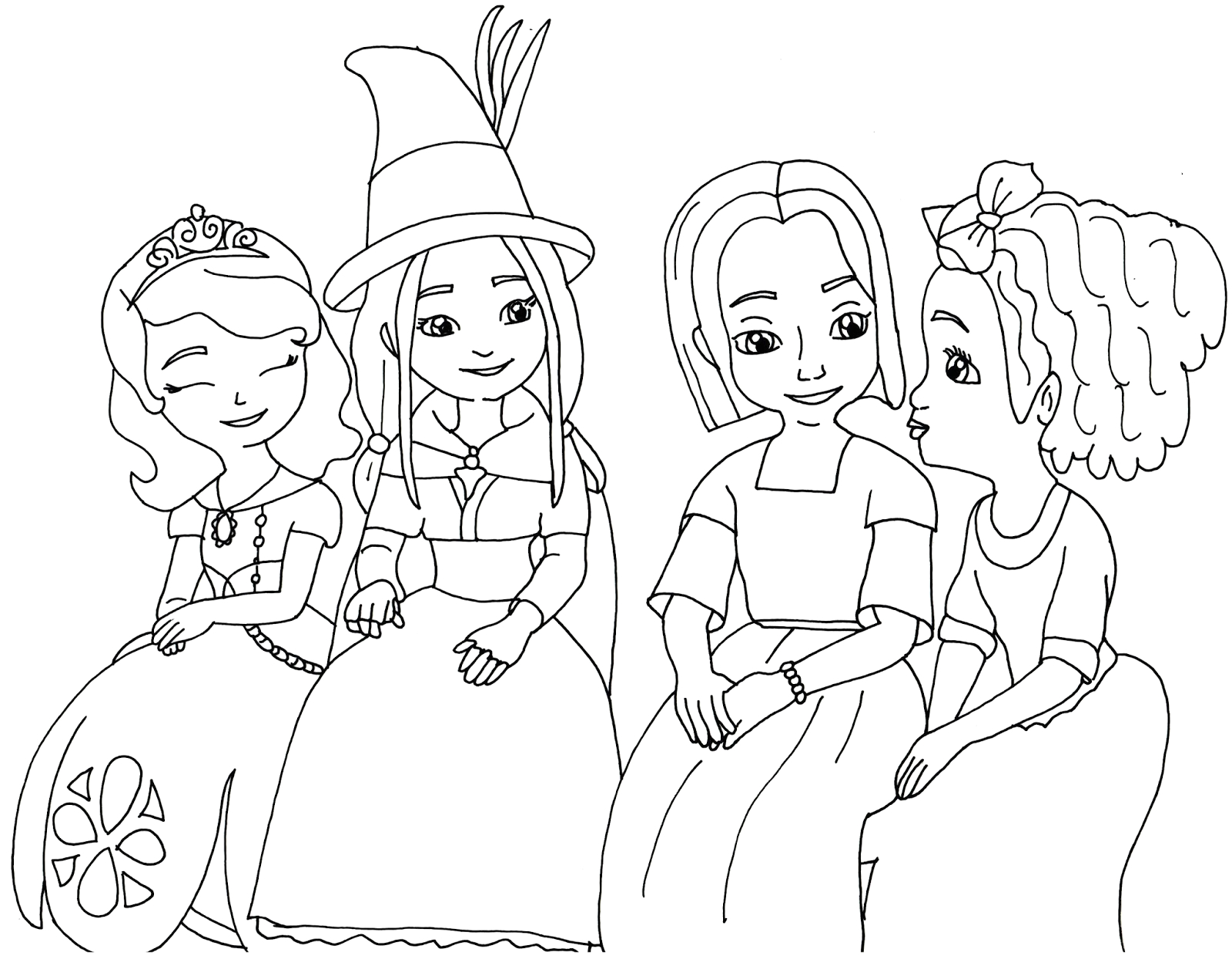 sofia the first disney princess coloring pages