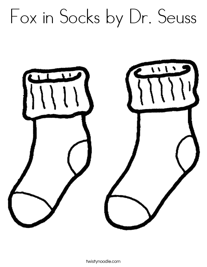 fox in socks by dr seuss coloring page