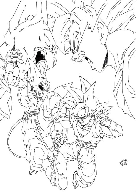Dragon Ball Z Battle Of Gods Coloring Pages Dragon Ball Z Battle Gods Coloring Pages