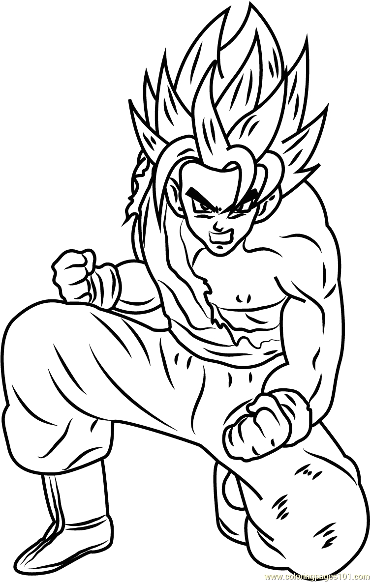 dbz coloring pages goku