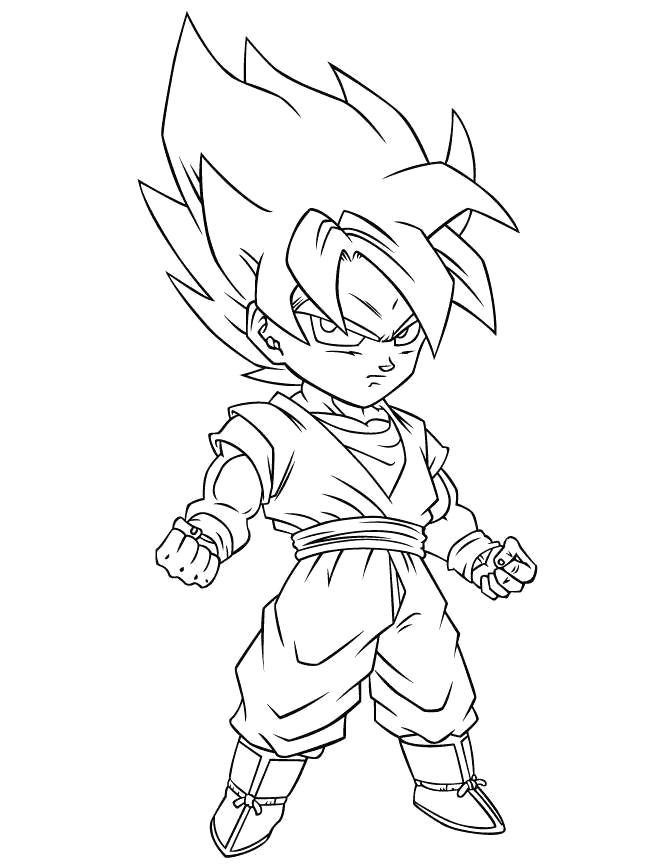 fancy dragon ball z coloring pages black and white