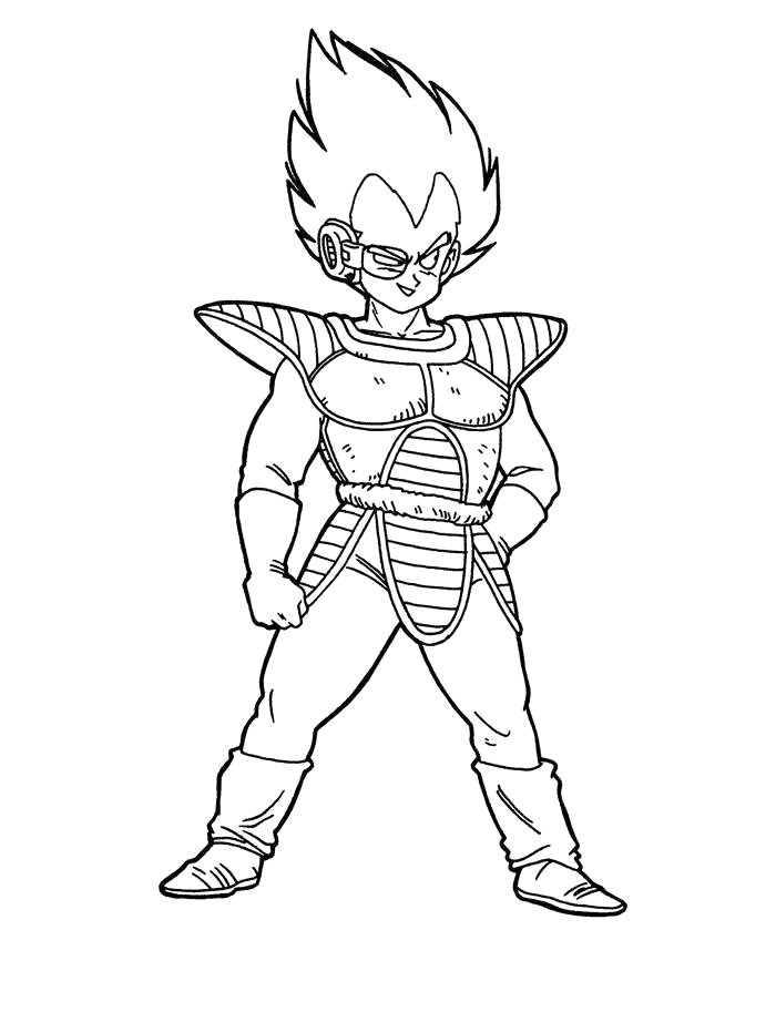fresh dragon ball z coloring pages black and white