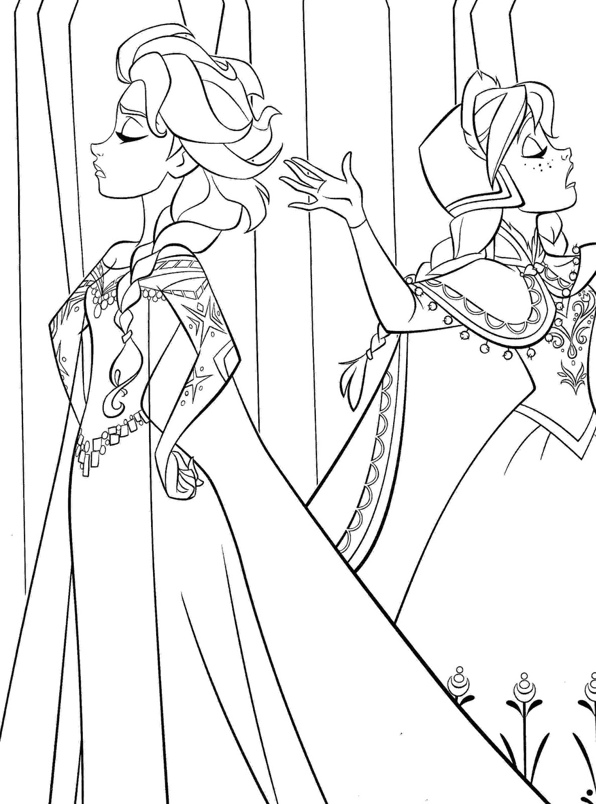 frozen 2 anna and elsa coloring pages