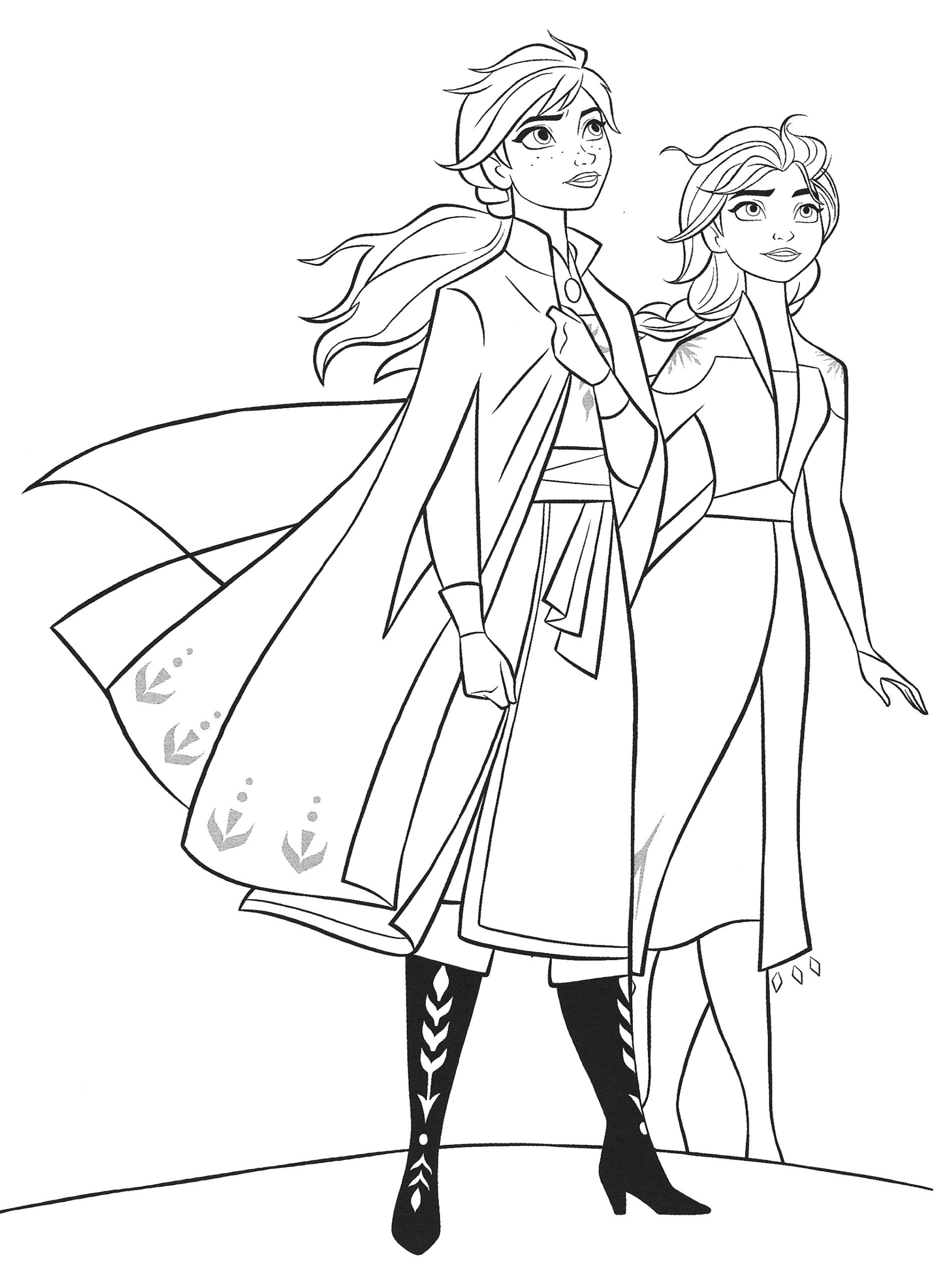 1038 frozen 2 elsa and anna coloring pages