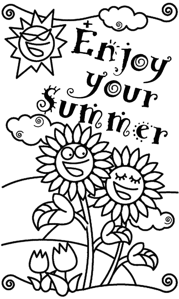 end of the year coloring pages for kindergarten