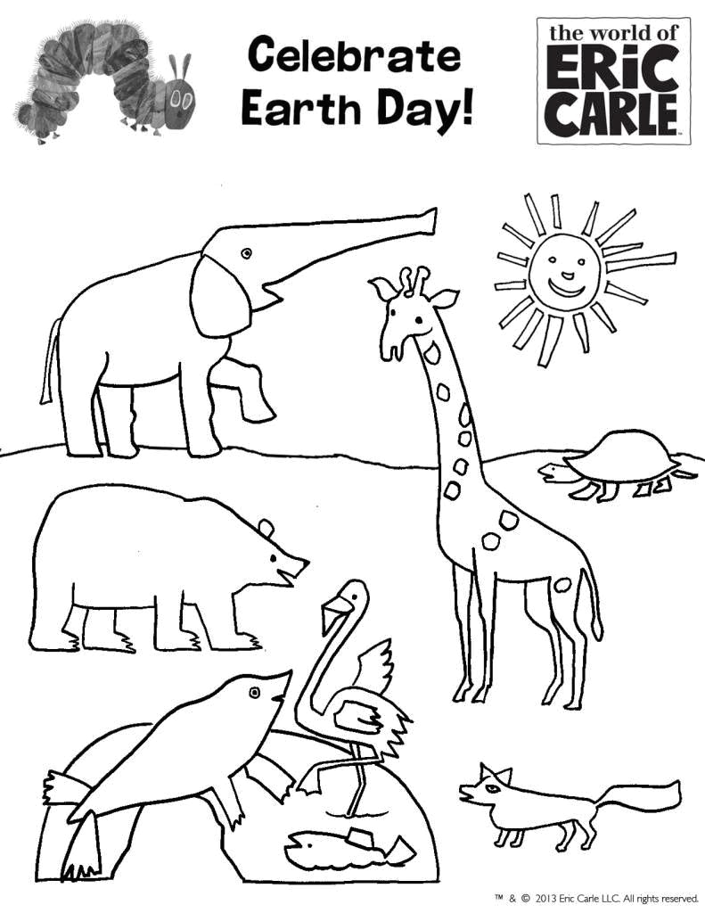 best photos of earth coloring pages for preschoolers earth eric carle coloring pages from head to toe eric carle mister seahorse coloring pages