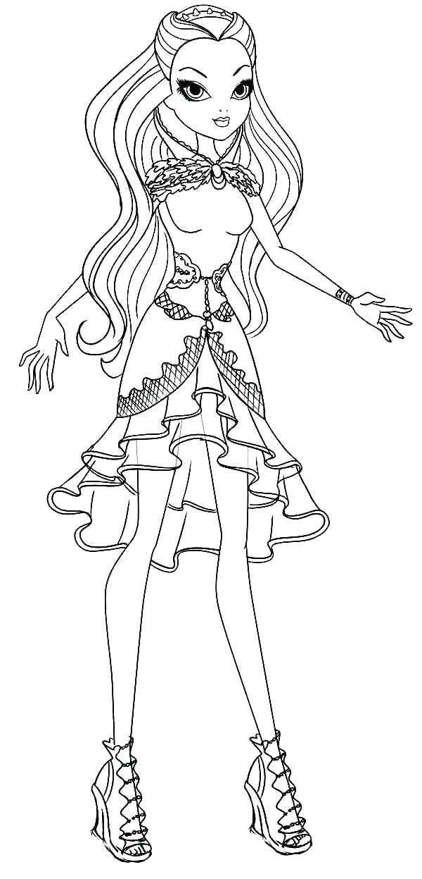 ever after high coloring pages cerise hood