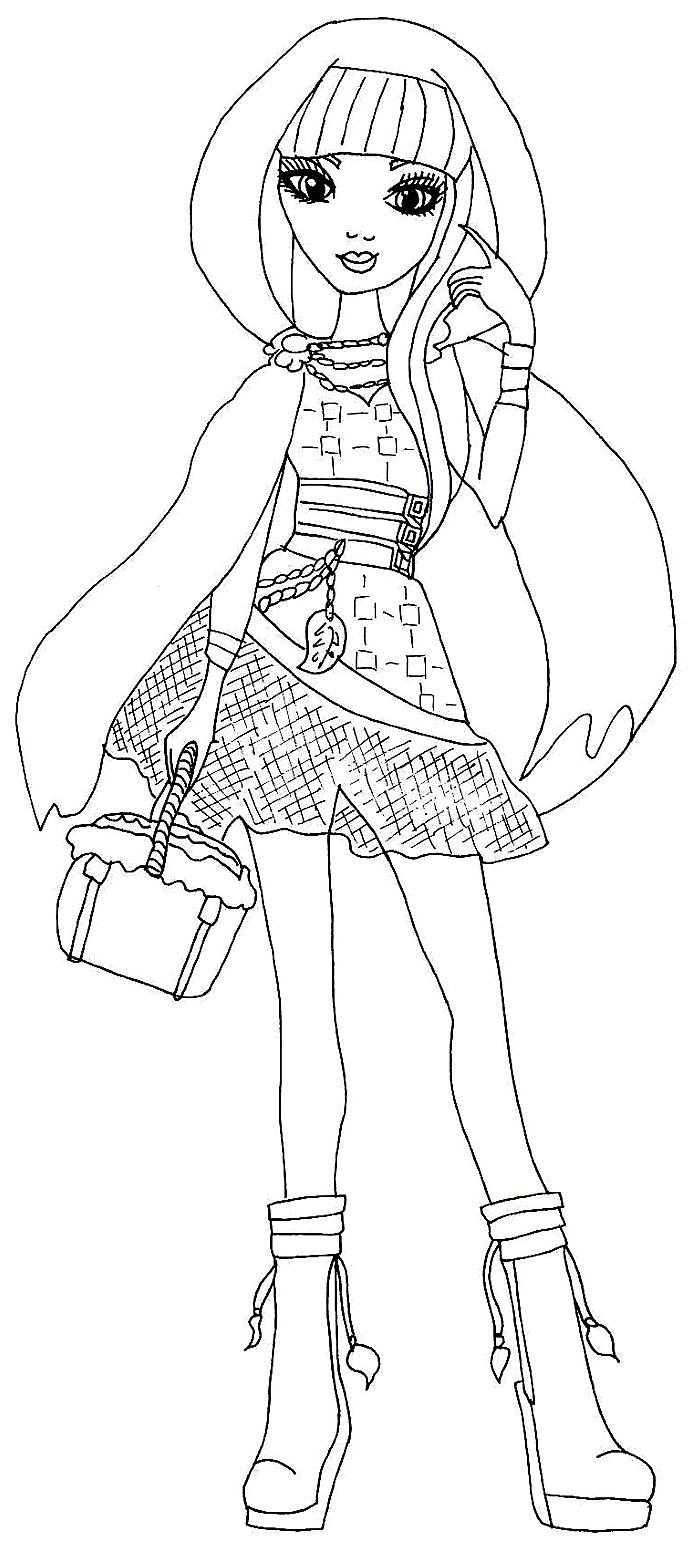 Ever after High Coloring Pages Cerise Hood Free Printable Ever after High Coloring Pages Cerise Hood