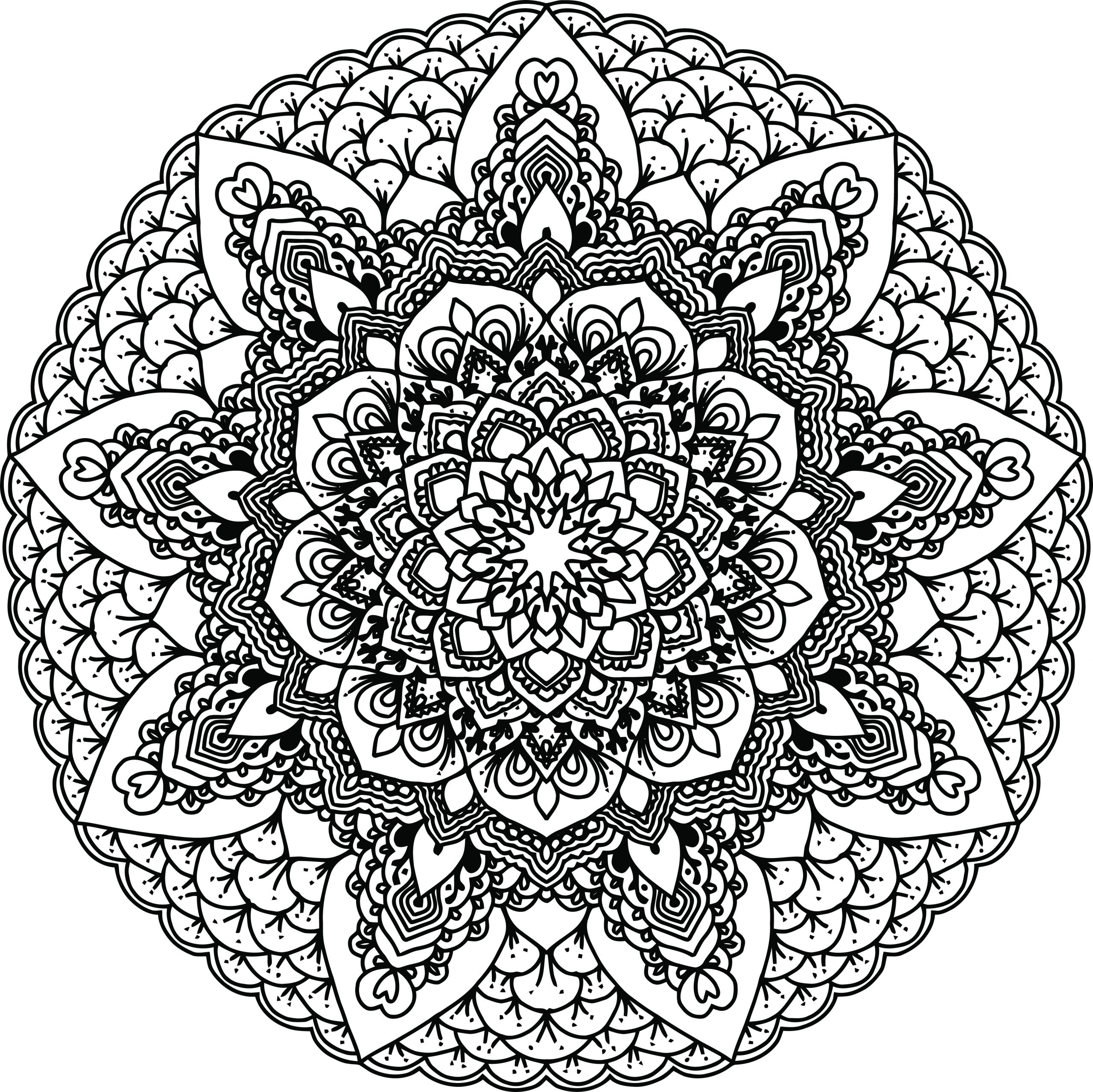 Free Black and White Coloring Pages for Adults Free Clipart A Black and White Adult Coloring Page