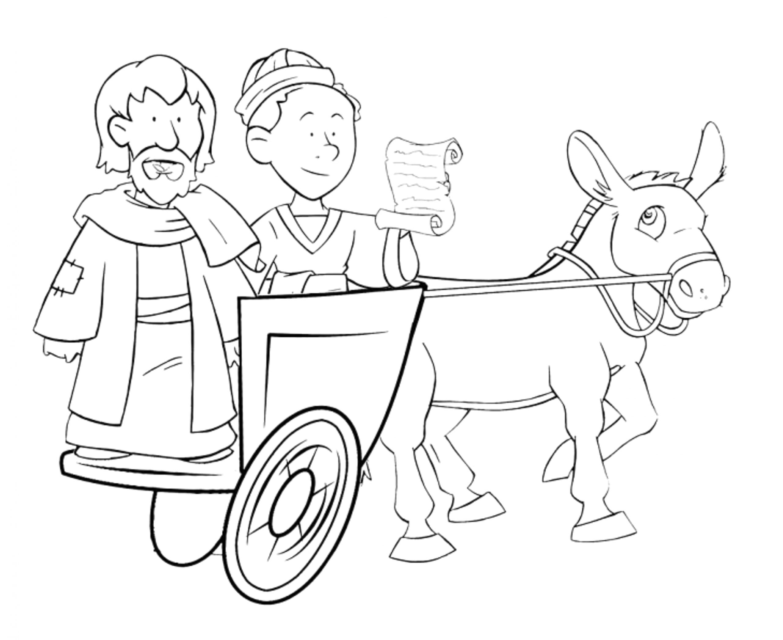 philip and the ethiopian eunuch coloring page sketch templates