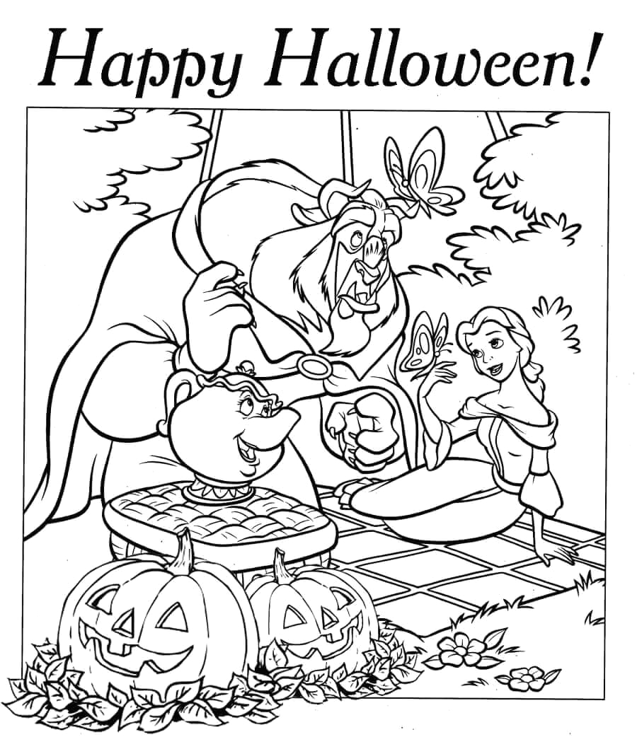 Free Disney Halloween Coloring Pages to Print 30 Free Printable Disney Halloween Coloring Pages