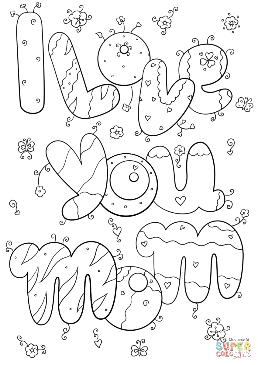 free printable i love you coloring pages