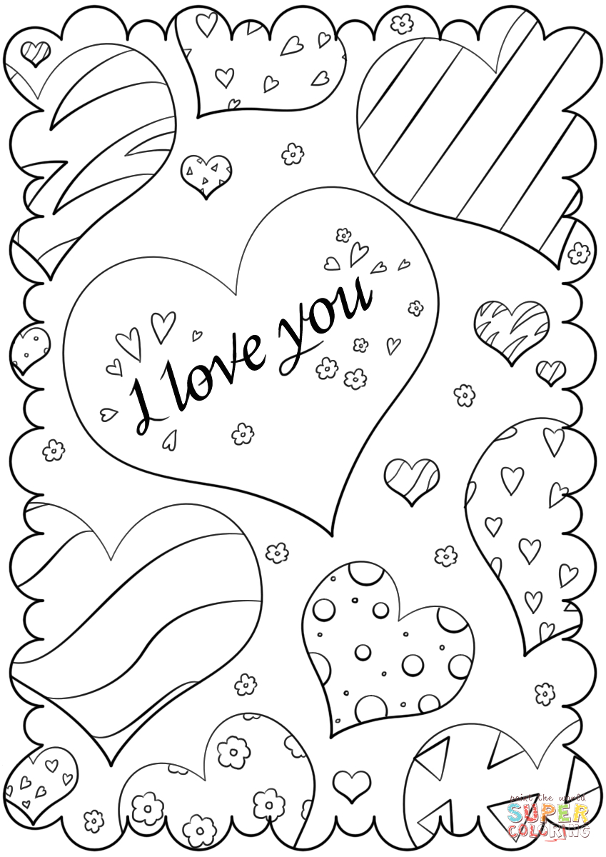 valentines day card i love you