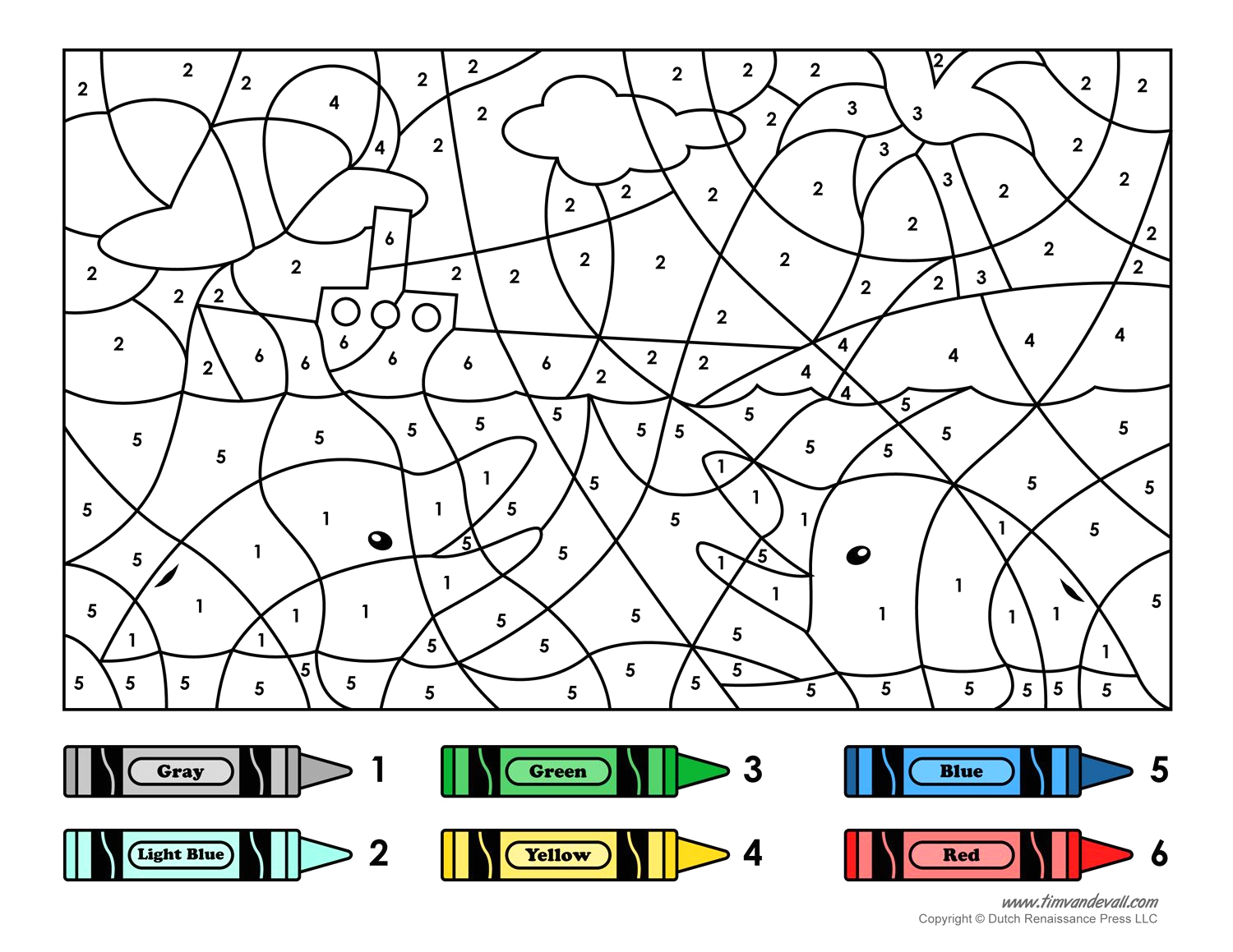 Free Online Color by Number Coloring Pages Color by Number Printable