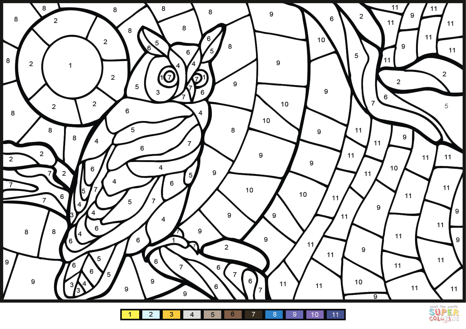 owl color by number 0 tag=