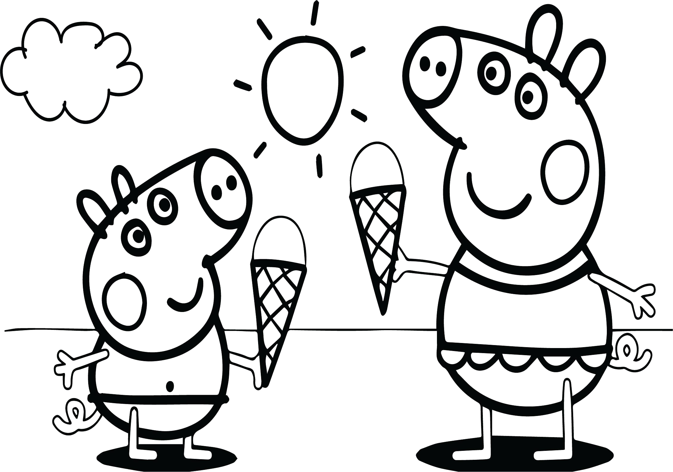 Free Peppa Pig Coloring Pages to Print Peppa Pig Family Coloring Pages at Getdrawings