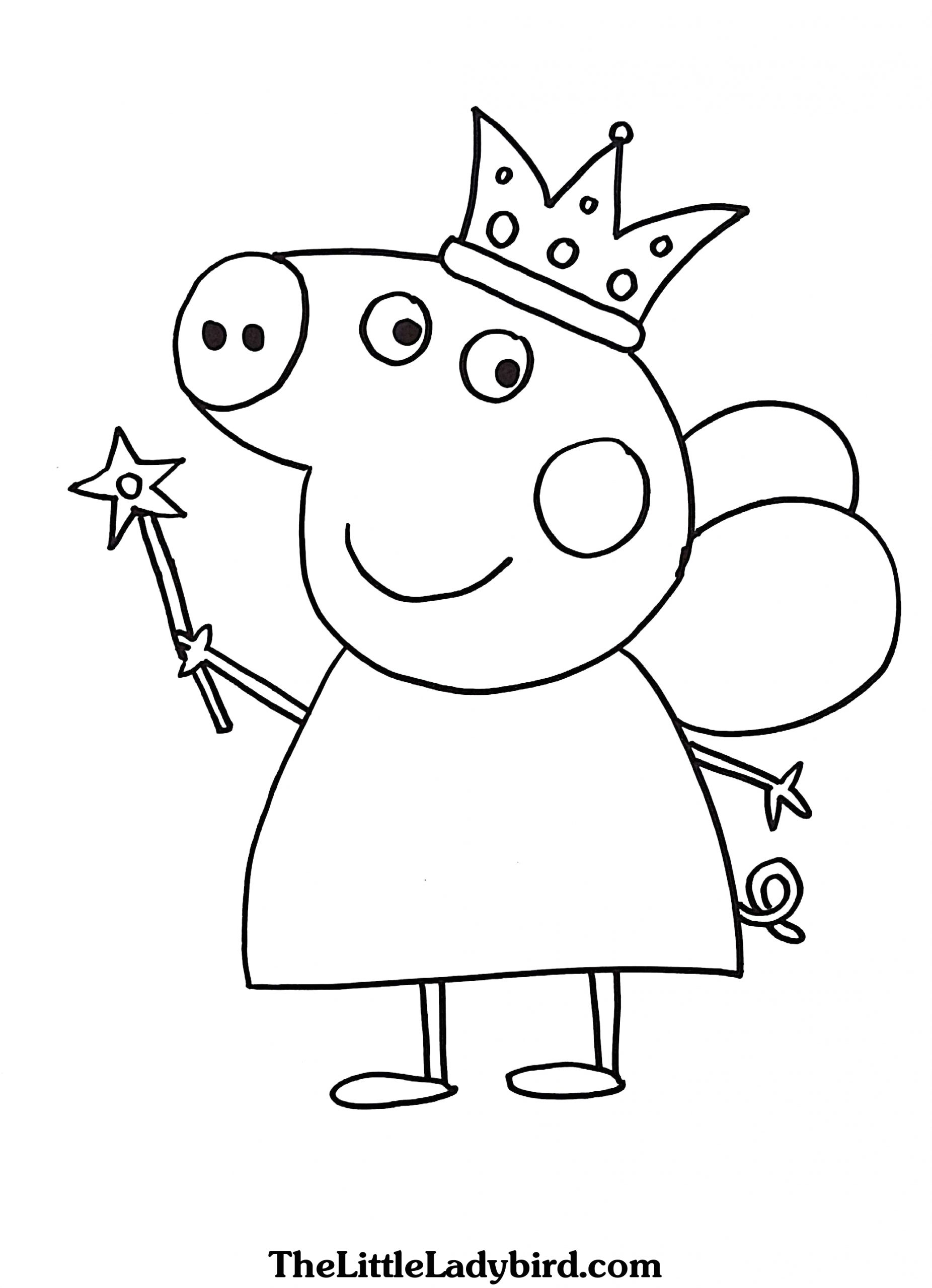 print peppa pig coloring pages