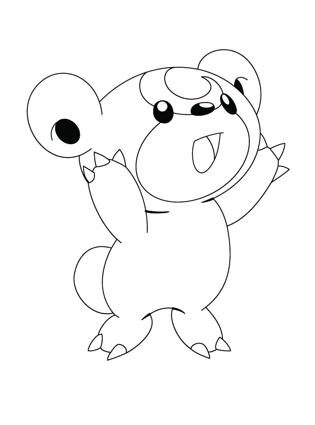 free pokemon coloring pages black and white