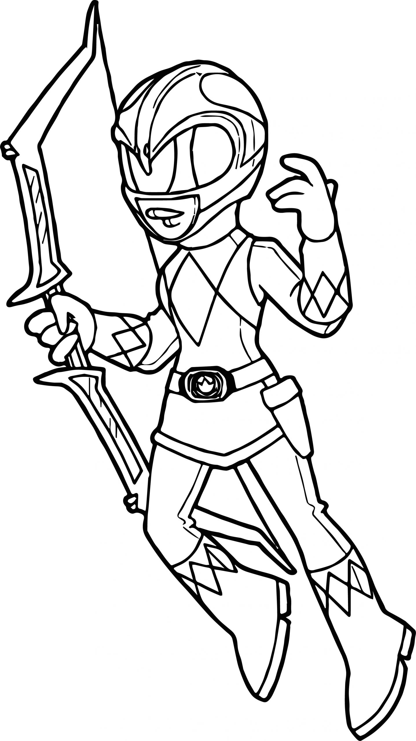 pink power ranger coloring pages