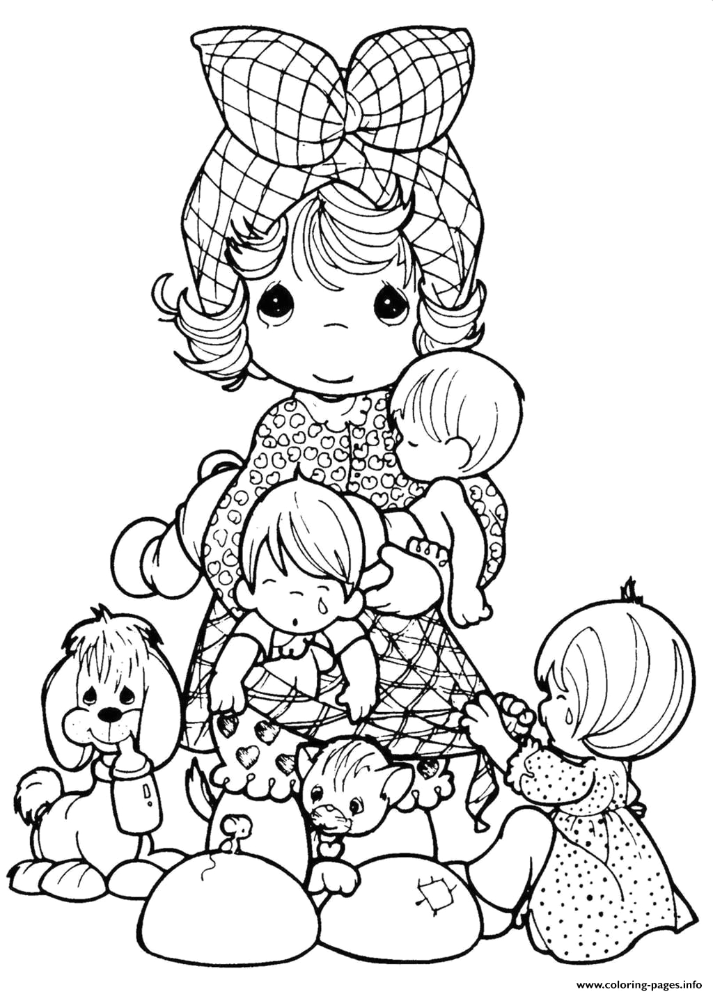 adult precious moments printable coloring pages book 3491