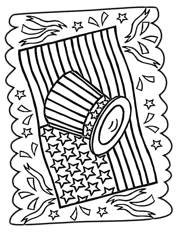 holiday 4th of july coloring art print pages colou
