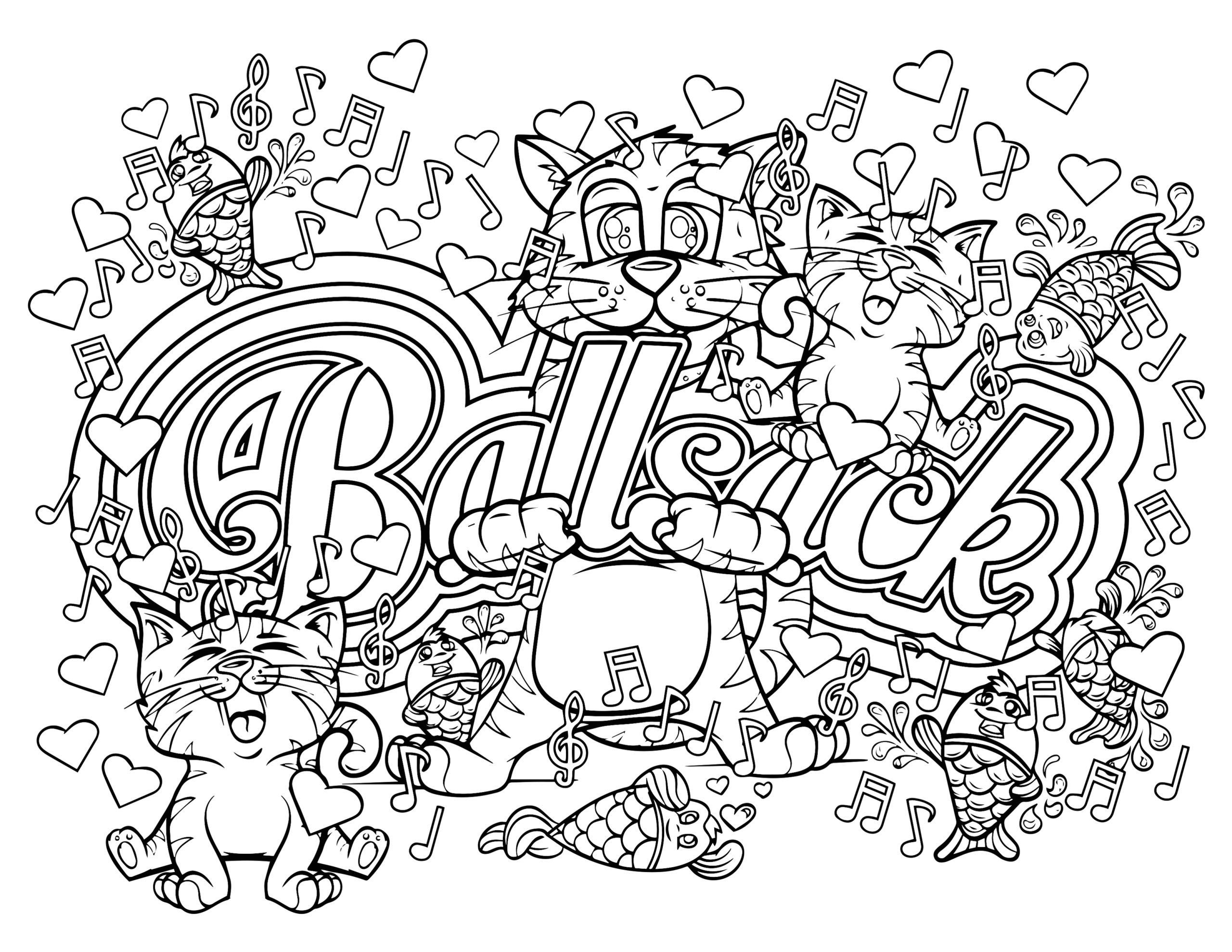 Free Printable Coloring Pages for Adults Swear Words Swear Word Coloring Pages Printable at Getcolorings