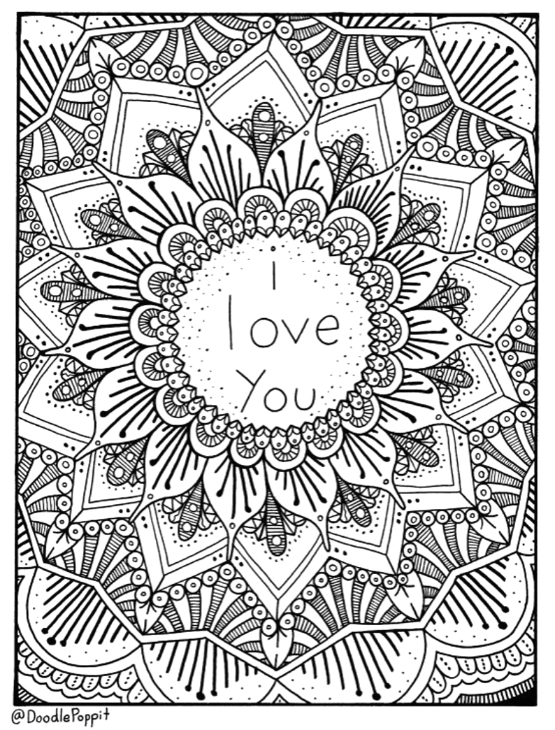 i love you coloring page coloring book